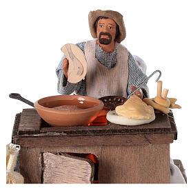 Vendeur ambulant de beignets avec charrette mouvement 13 cm s2