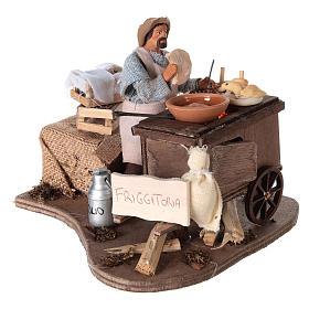 Vendeur ambulant de beignets avec charrette mouvement 13 cm s4