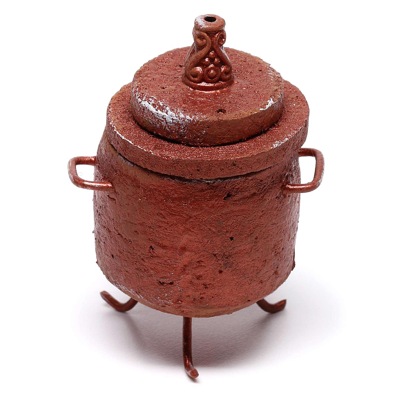 Cocina para castañas 5x5x5 cm para belén de 10 cm 4