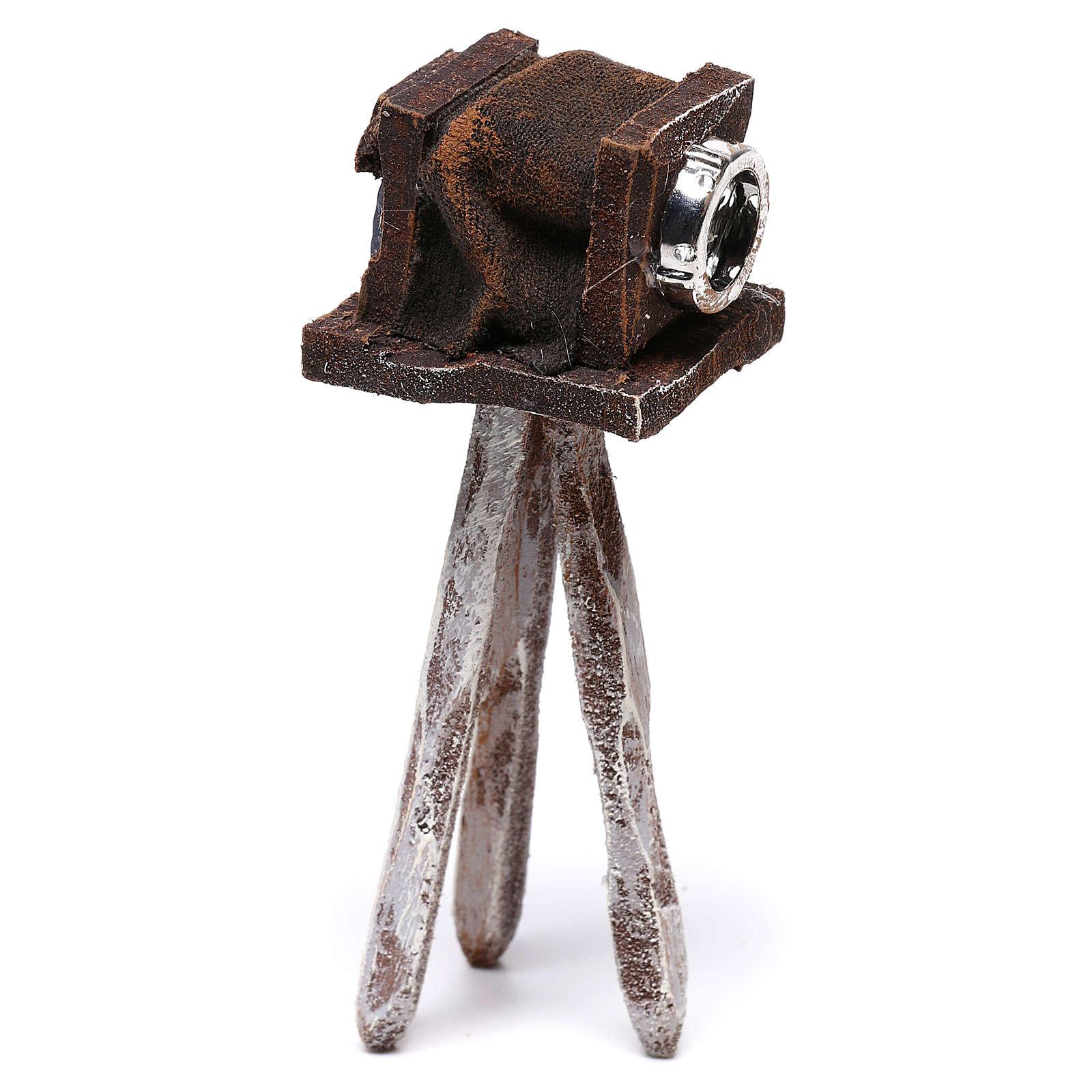 Miniature antique camera 10x5x5 cm, for 10 cm nativity 4