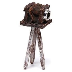 Miniature antique camera 10x5x5 cm, for 10 cm nativity s2