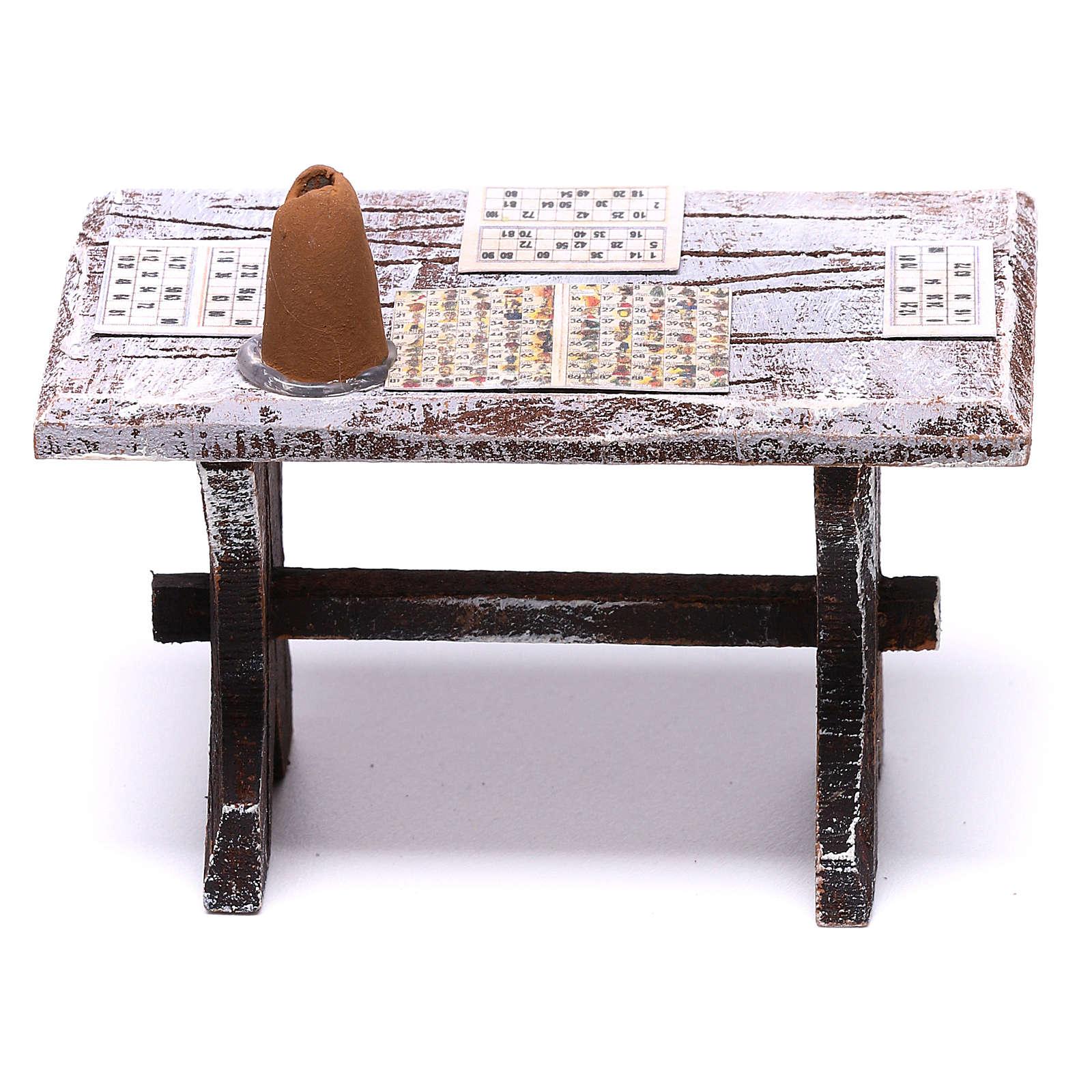 Table tombola et tabourets 5x5x5 cm pour crèche de 10 cm 4