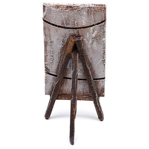 Tripod with painting for Nativity scene of 12 cm 10x5x5 cm 4