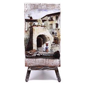 Cavalletto con dipinto per presepe di 12 cm 10x5x5 cm  s1