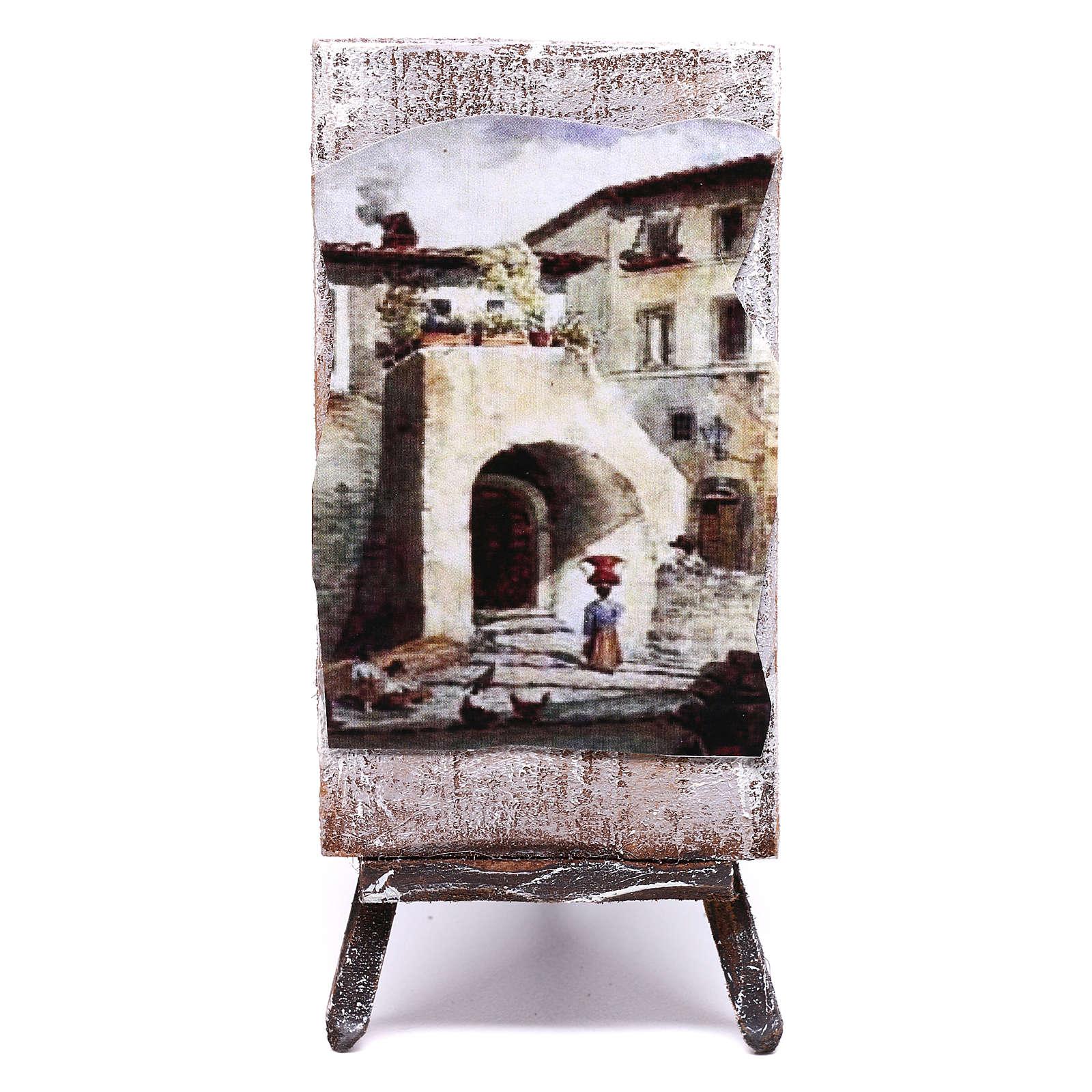 Mini painted canvas for 12 cm nativity 10x5x5 cm 4
