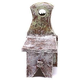Acessórios de Casa para Presépio: Cadeira miniatura 5x5x5 cm para presépio com figuras de 12 cm de altura média