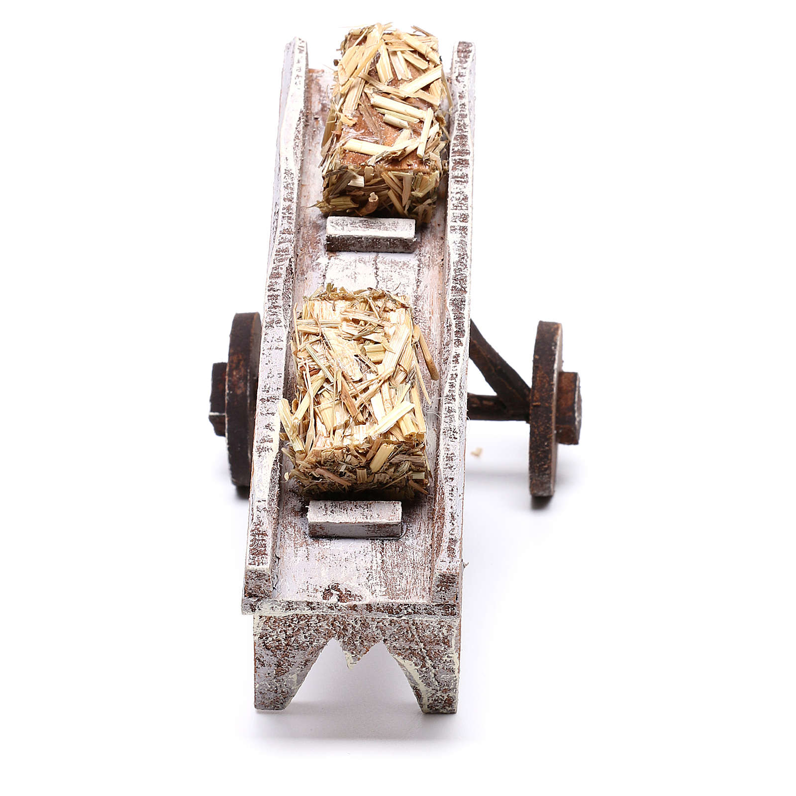 Cart full of hay accessory 10x10x10 cm, for 12 cm nativity 4