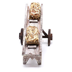 Cart full of hay accessory 10x10x10 cm, for 12 cm nativity s4
