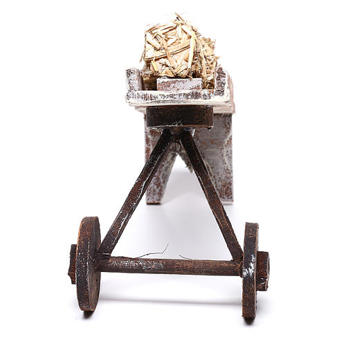 Cart full of hay accessory 10x10x10 cm, for 12 cm nativity 3