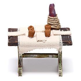 Mesa con 4 sillas para belén de 12 cm 10x5x5 cm s4