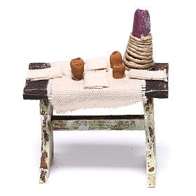 Mesa con 4 sillas para belén de 12 cm 10x5x5 cm s8