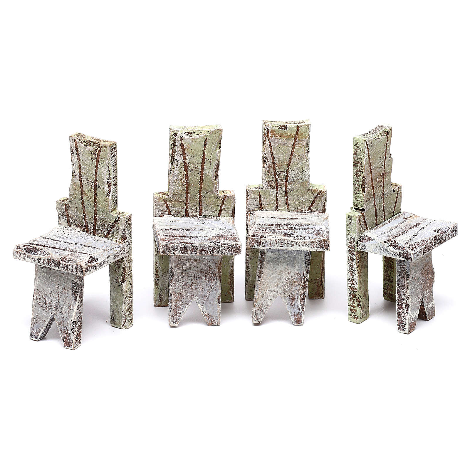 Miniature table with 4 chairs, for 12 cm 10x5x5 cm 4
