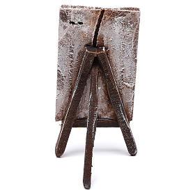 Cavalletto con sfondo per presepe di 10 cm 10x5x5 cm  s4
