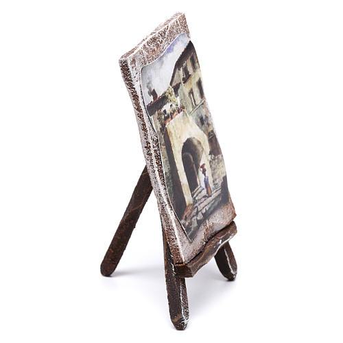 Cavalletto con sfondo per presepe di 10 cm 10x5x5 cm  2