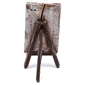 Easel with canvas, for 10 cm nativity 10x5x5 cm s4