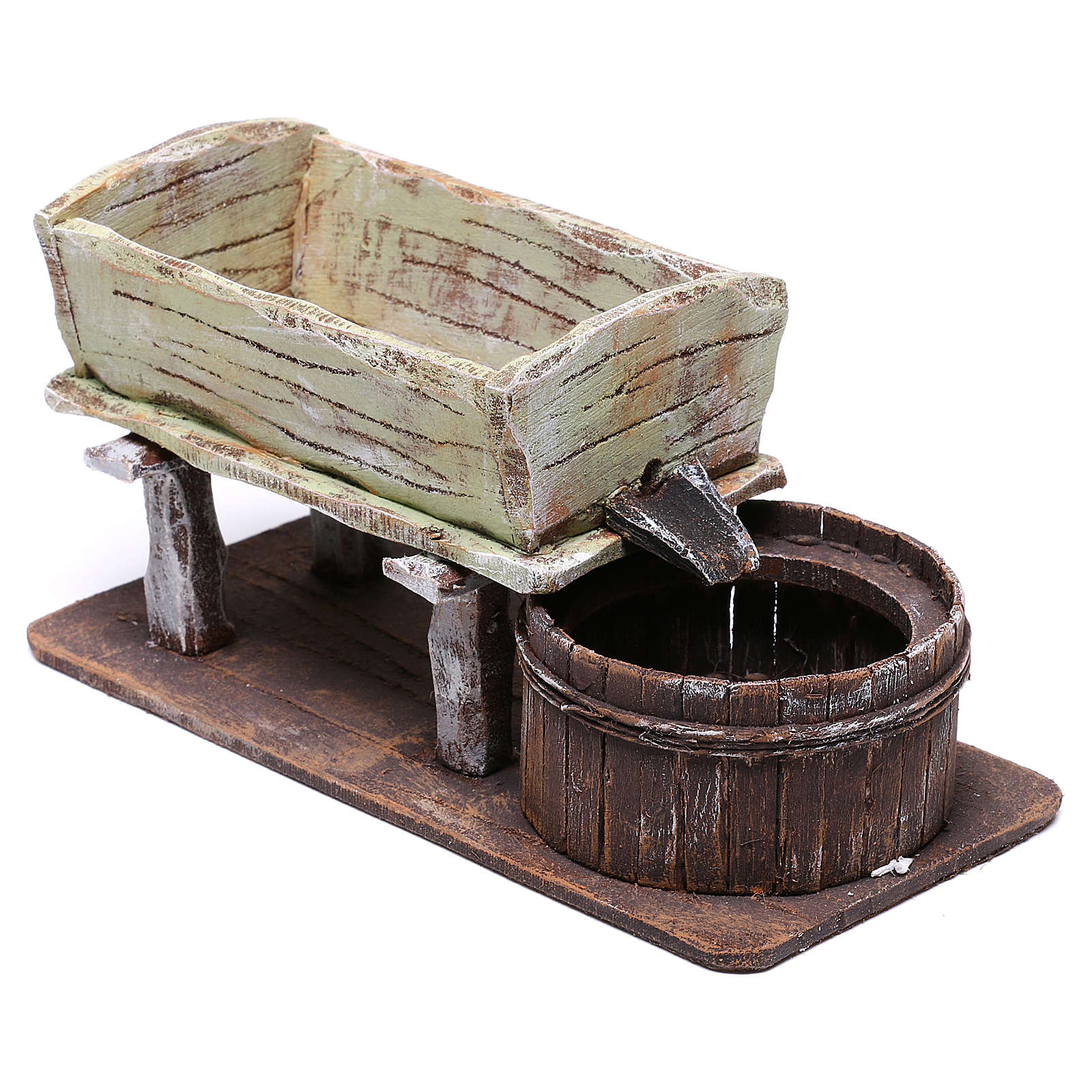 Basin for crushing grapes 20x15x5 cm for Nativity scene of 10 cm 4