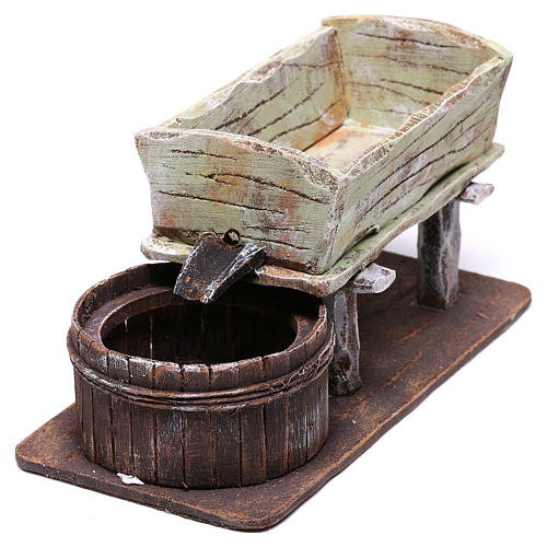 Basin for crushing grapes 20x15x5 cm for Nativity scene of 10 cm 3