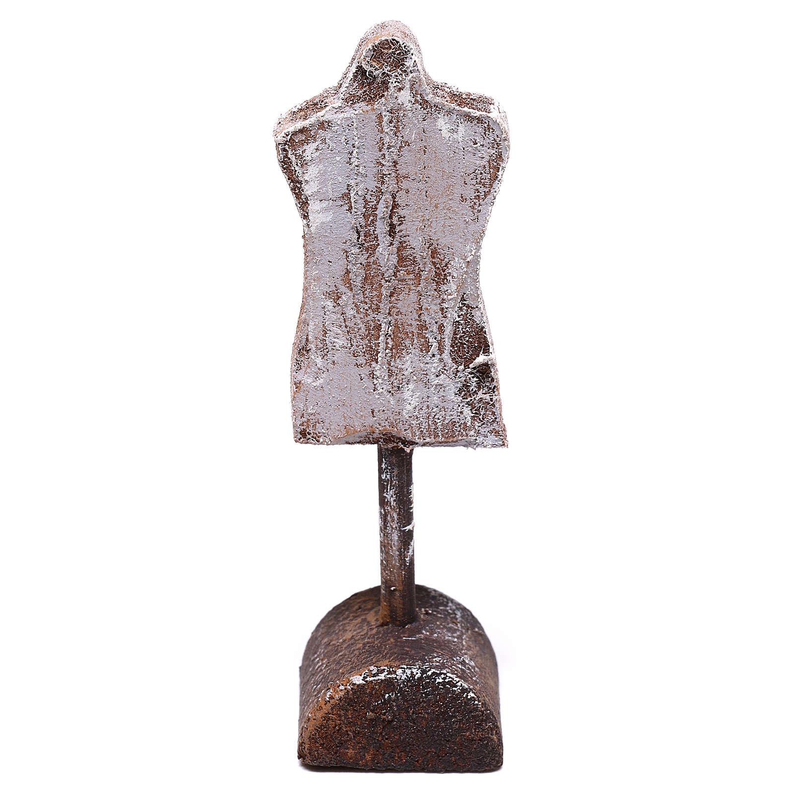Buste mannequin 10x5x5 cm pour crèche de 12 cm 4