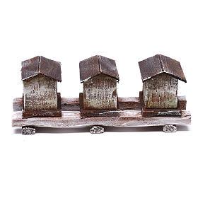 Beehives 5x15x5 cm for 12 cm Nativity scene s1