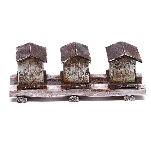 Beehives 5x15x5 cm for 12 cm Nativity scene 1