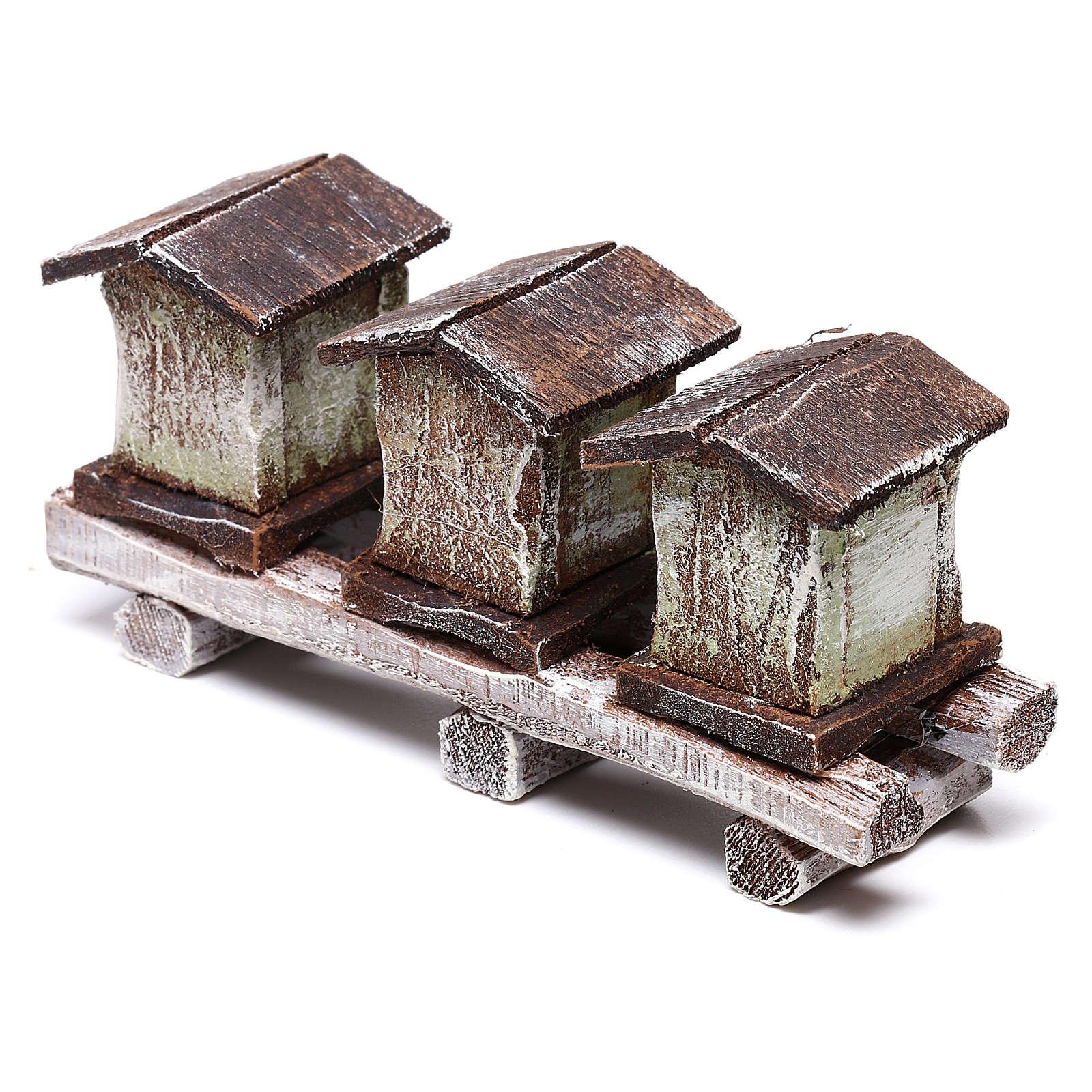 Bee houses 5x10x5 cm, for 10 cm nativity 4