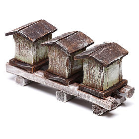 Bee houses 5x10x5 cm, for 10 cm nativity s2