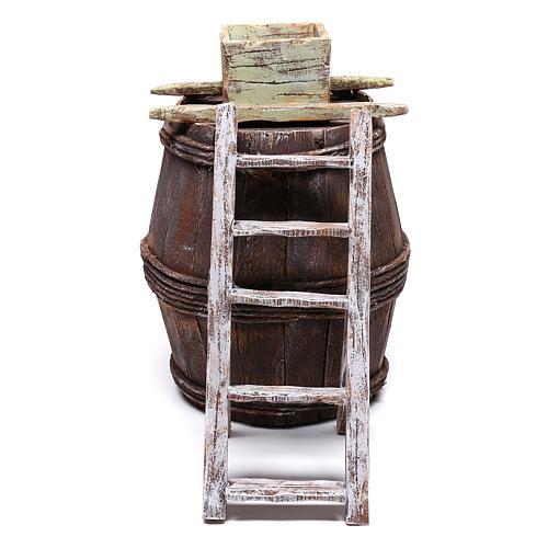 Barrel with grape machine for 10 cm nativity 15x10x10 cm 1