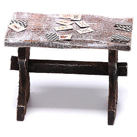 Table with cards and stools of 5x5x5 cm for Nativity scene of 12 cm s4