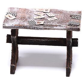 Mesa con cartas y 4 taburetes de 5x5x5 cm para belén de 12 cm s4