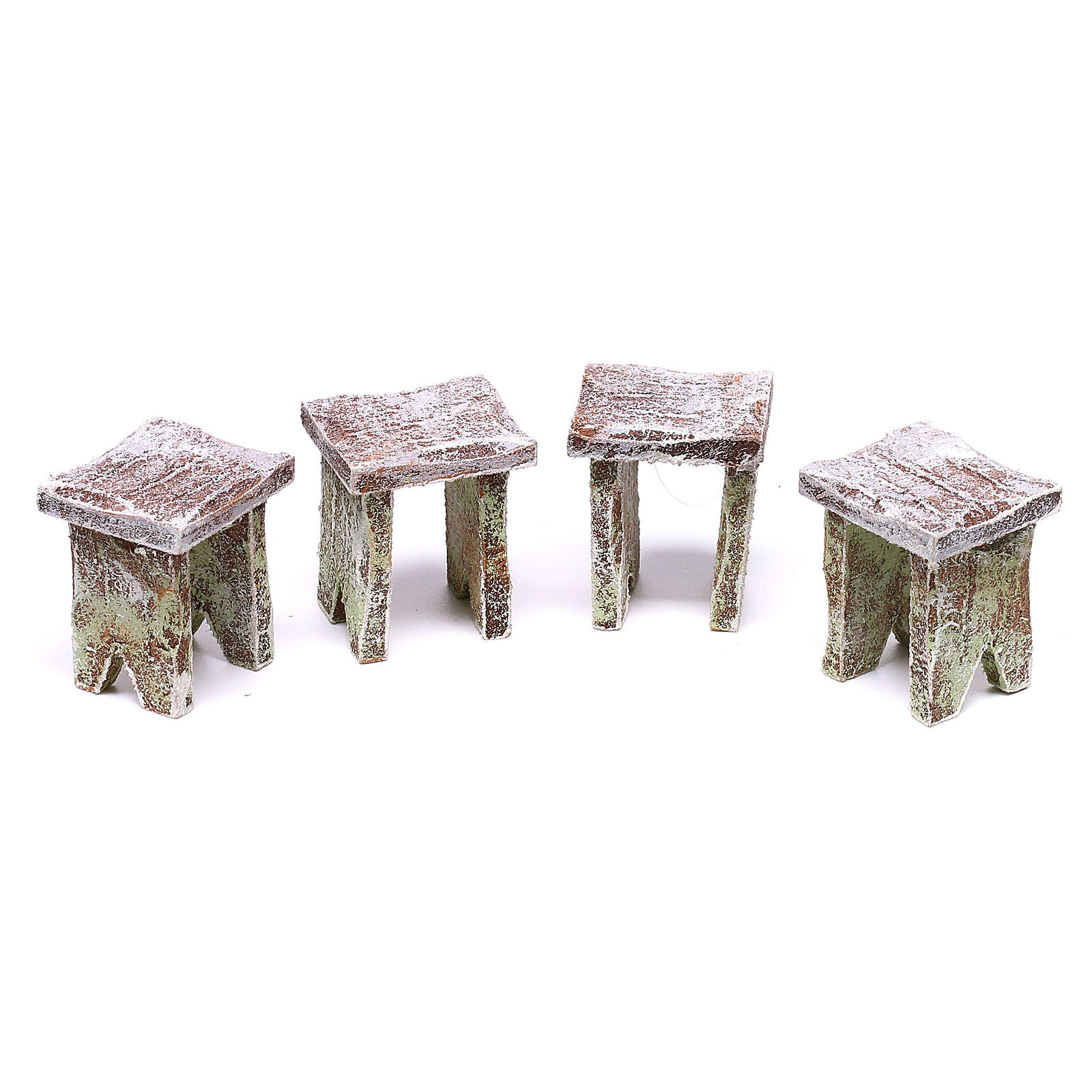 Mini table with cards and 4 benches 5x5x5 cm, for 12 cm nativity 4