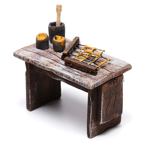Table apiculteur 5x5x5 cm pour crèche de 10 cm 2