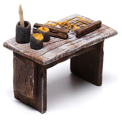 Table apiculteur 5x5x5 cm pour crèche de 10 cm 3