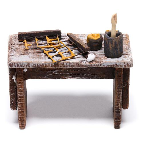 Table apiculteur 5x5x5 cm pour crèche de 10 cm 4