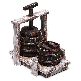 Antique Butter churn 5x5x5 cm, for 10 cm nativity s2