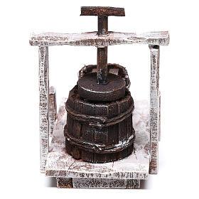 Vintage butter churn 10x10x5 cm, for 12 cm nativity s3