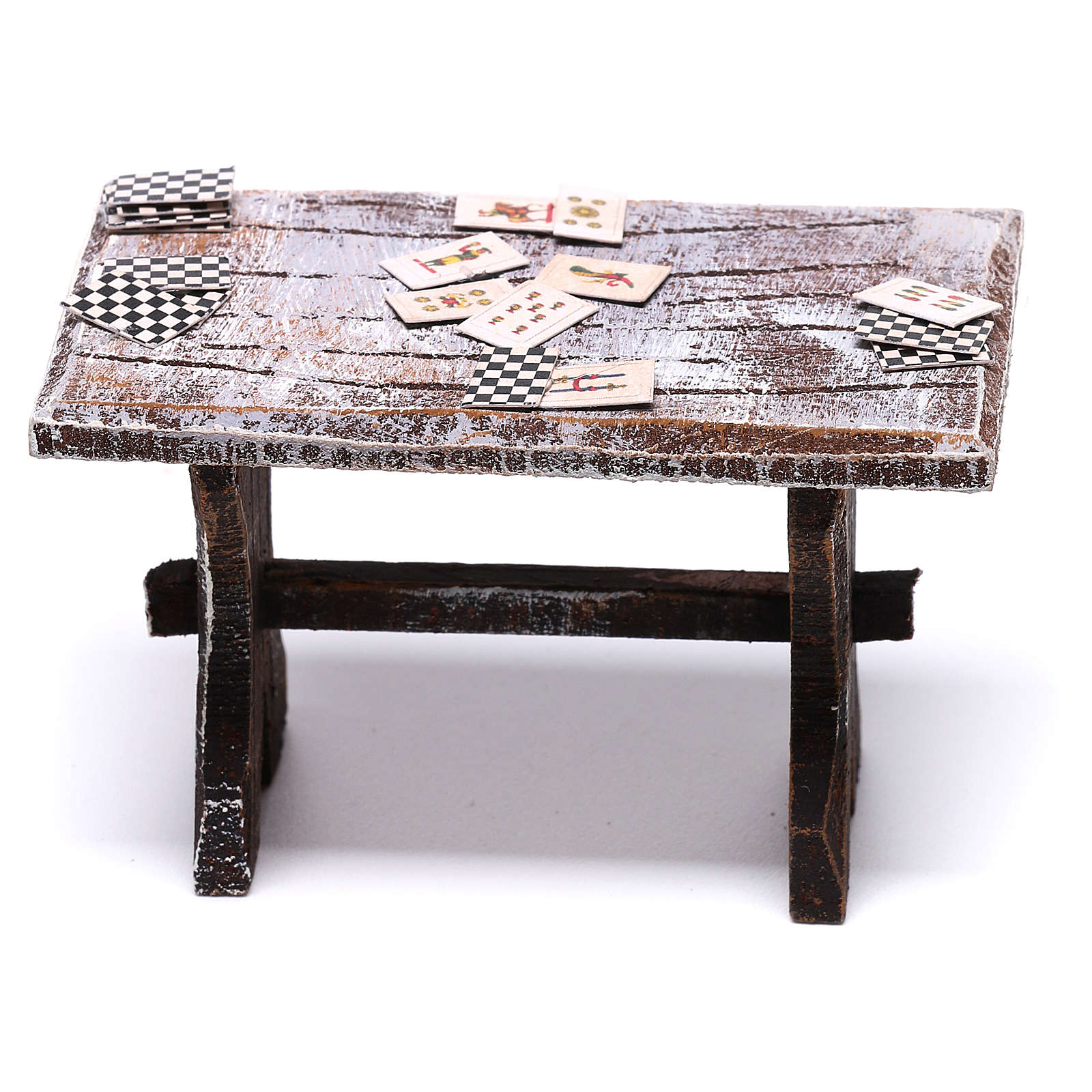 Table with cards and stools of 5x5x5 cm for Nativity scene of 10 cm 4
