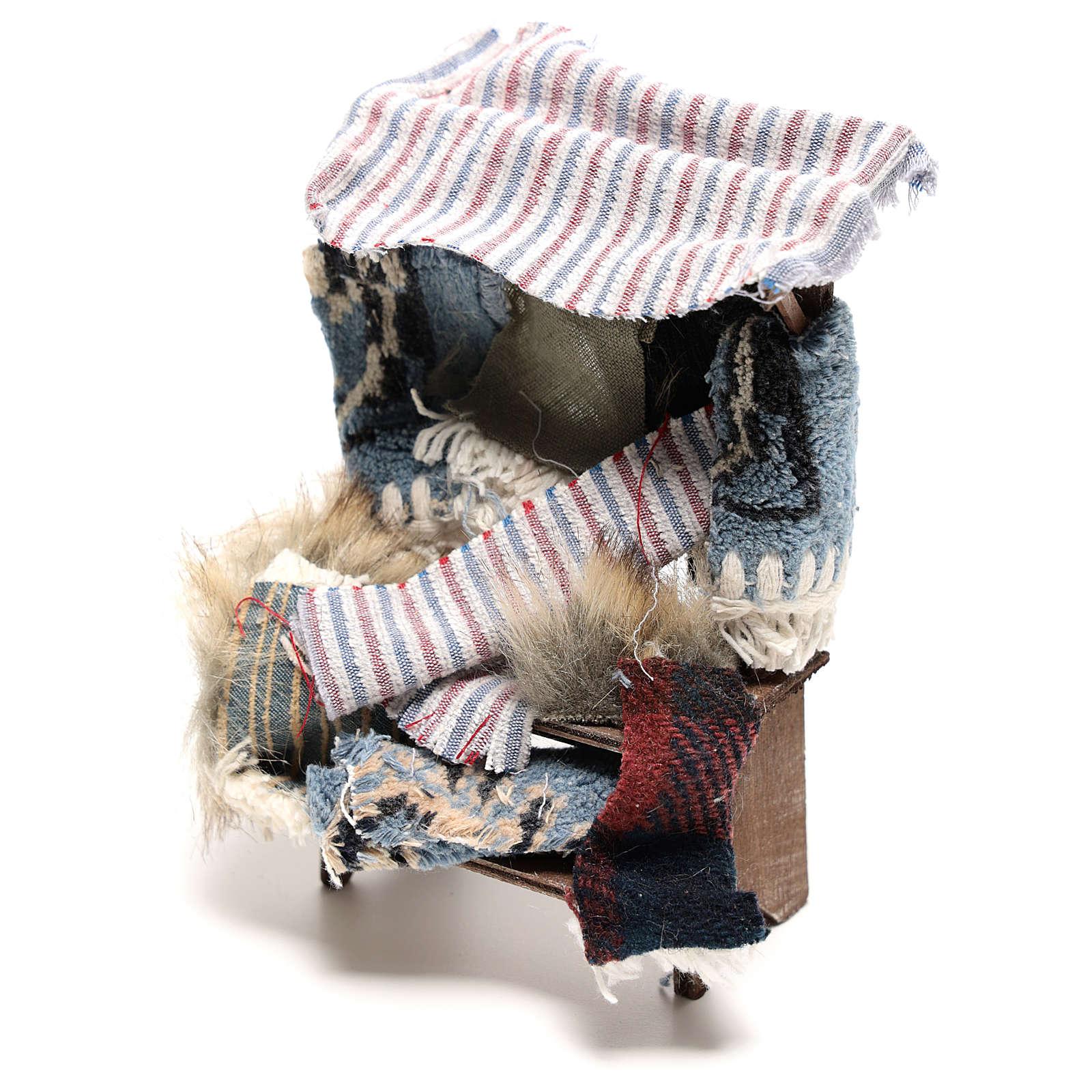 Banco venditore di tappeti 14x5x5 cm presepe napoletano 14 cm 4