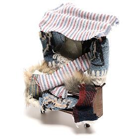 Banco venditore di tappeti 14x5x5 cm presepe napoletano 14 cm s2