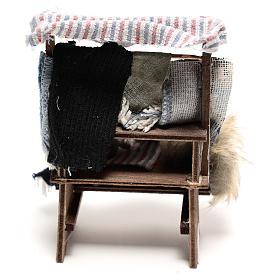 Banco venditore di tappeti 14x5x5 cm presepe napoletano 14 cm s4