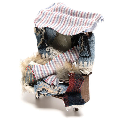Banco venditore di tappeti 14x5x5 cm presepe napoletano 14 cm 2