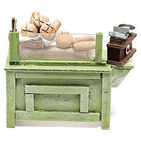 Presépio Napolitano: Banca venda pão 10x10x5 cm para presépio napolitano com figuras de 10 cm de altura média