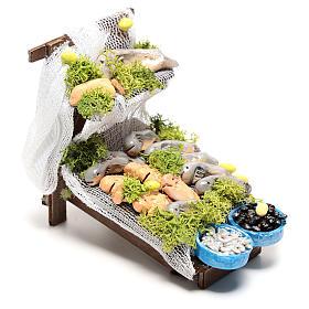 Fish market stand 10x5x10 cm, for 10 cm Neapolitan nativity s3