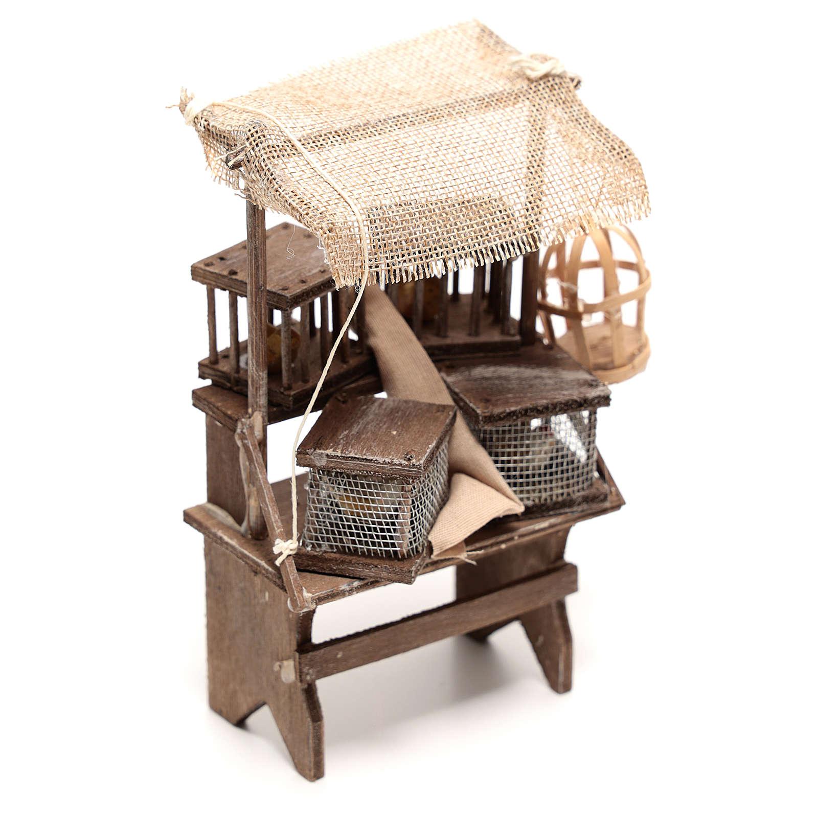 Étal vendeur de cages 15x5x5 cm crèche napolitaine 16 cm 4