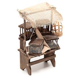 Étal vendeur de cages 15x5x5 cm crèche napolitaine 16 cm s3