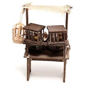 Étal vendeur de cages 15x5x5 cm crèche napolitaine 16 cm s4