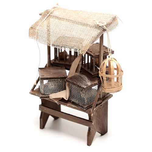 Étal vendeur de cages 15x5x5 cm crèche napolitaine 16 cm 2