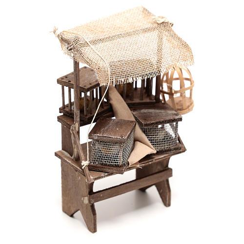 Étal vendeur de cages 15x5x5 cm crèche napolitaine 16 cm 3