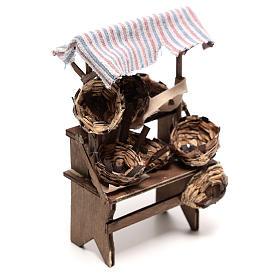 Mostrador vendedor de cestas de 15x5x5 cm belén napolitano 14 cm s3