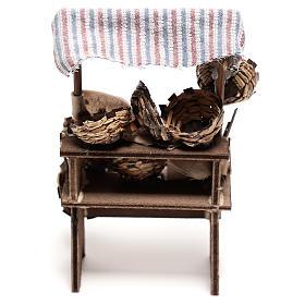 Mostrador vendedor de cestas de 15x5x5 cm belén napolitano 14 cm s4