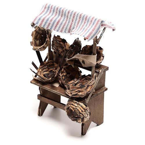 Mostrador vendedor de cestas de 15x5x5 cm belén napolitano 14 cm 2